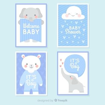Baby-dusche-kartensammlung