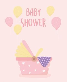 Baby-dusche neugeborenen autositz luftballons dekoration