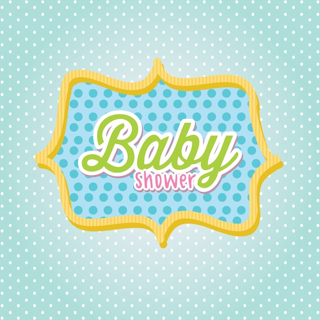 Baby-dusche-rahmen