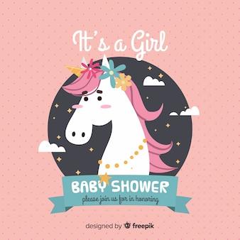 Baby-dusche-vorlage für mädchen