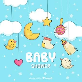 Baby-Dusche-Vorlage für Jungen
