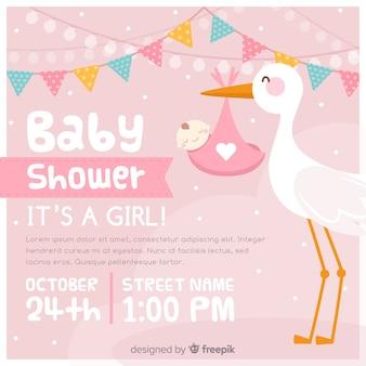 Baby-duscheeinladung