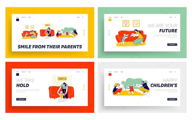 Baby first step landing page template set