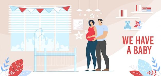 Baby-geburt und glückliche elternteil-vorbereitung