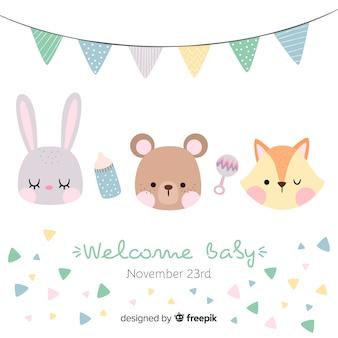 Baby-geburtskarte