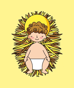 Baby jesus in der krippe