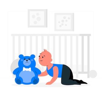 Baby-konzeptillustration
