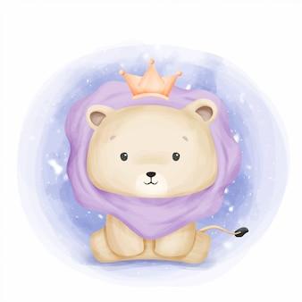 Baby leo könig des dschungels
