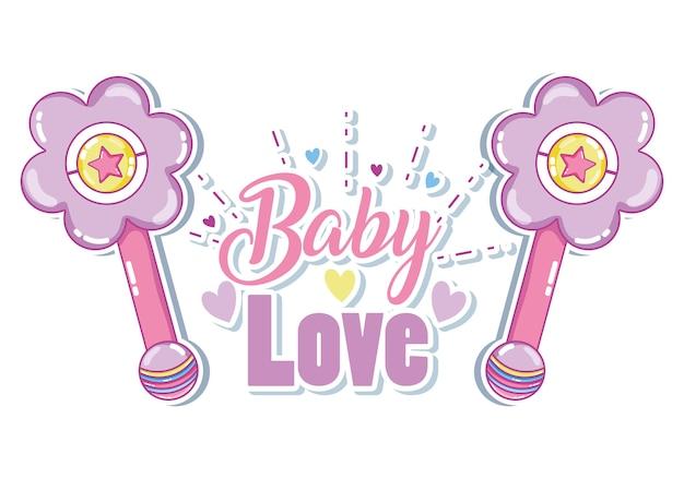 Baby-liebes-kartenvektor-illustrationsgrafikdesign
