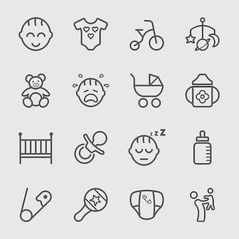 Baby-linie-symbol