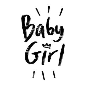 Baby mädchen schriftzug