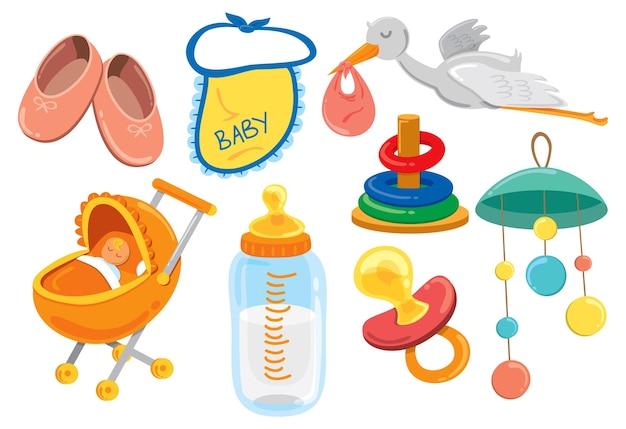 Baby-sachen-cartoon-symbol