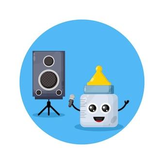 Baby schnuller karaoke süßes charakterlogo