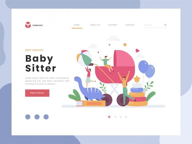 Baby schwester landing page vorlage