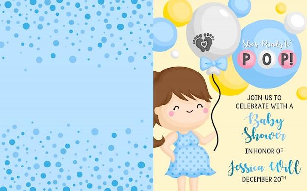 Baby shower einladung kartenvorlage