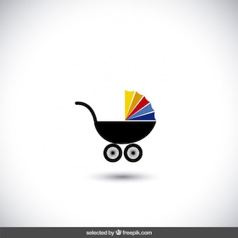 Baby-Spaziergänger-Symbol