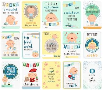 Baby-Sprungbrett-Karten