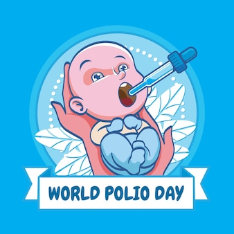 Baby welt-polio-tag