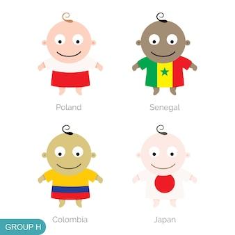 Baby-weltfußball, lustige karikatur