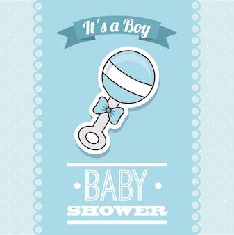 Babydesign über blauer hintergrundvektorillustration
