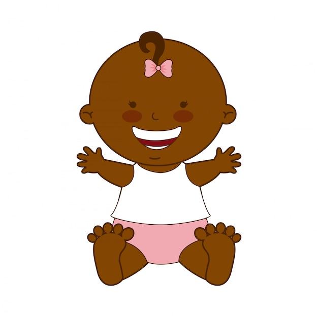 Babydesign über weißer hintergrundvektorillustration