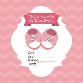 Babyduschedesign, grafik der vektorillustration eps10