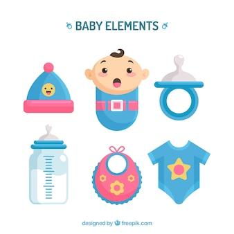 Babyelementsammlung in der flachen art