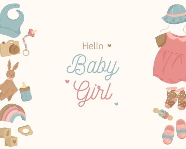 Babyhintergrundlandschaft für babymädchen in erdtonfarben