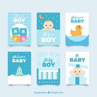 Babykartensammlung in der flachen art