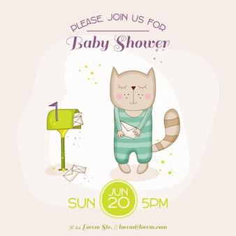 Babykatze mit posteingangskarte