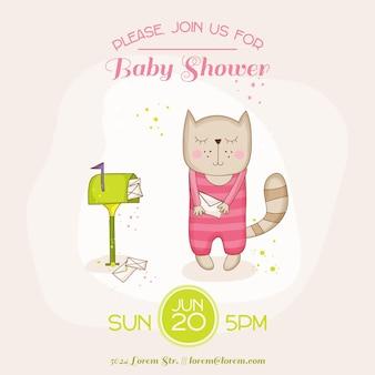 Babykatze mit postkarte