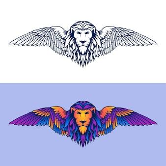 Babylon lion illustration logo