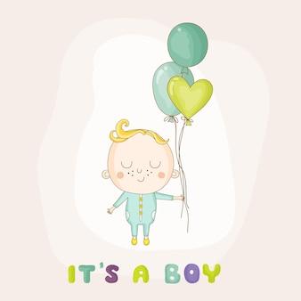 Babymädchen mit luftballons