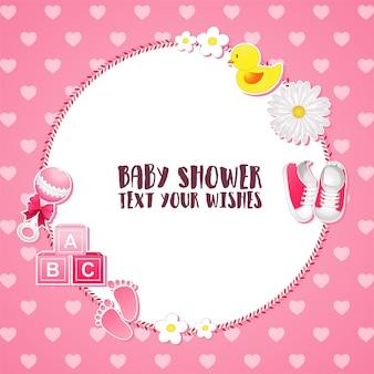 Babyparty einladungskarte