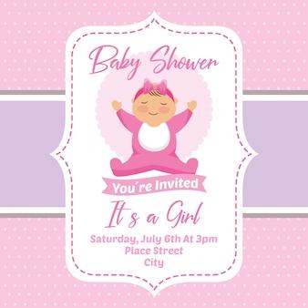 Babyparty-einladungskarte