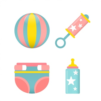Babyparty-ikonen-gesetzter vektor
