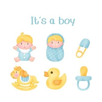 Babyparty ist ein junge elemente.