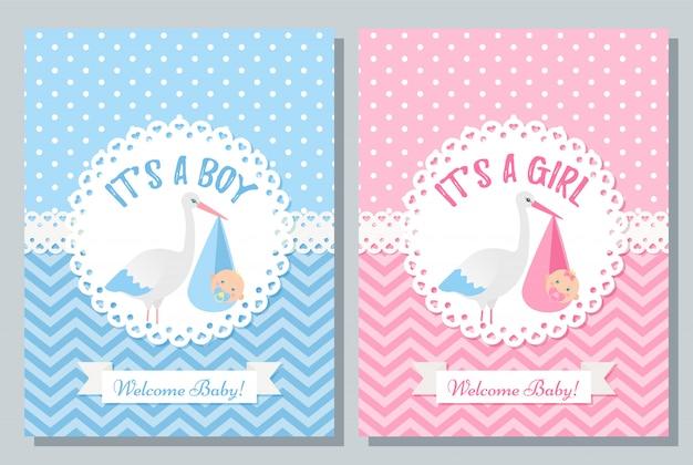 Babyparty-kartenentwurf. illustration. geburtstagsvorlage einladen.