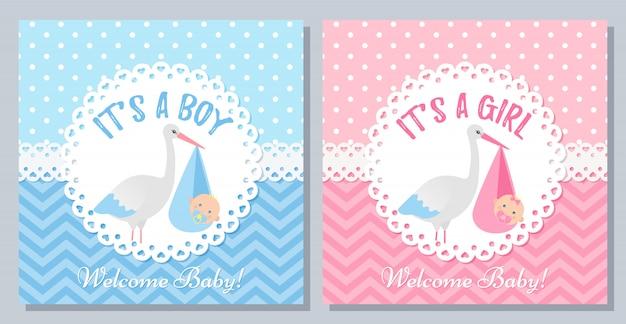 Babyparty-kartenentwurf. illustration. hintergrund der geburtstagsfeier.
