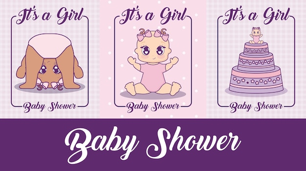 Babypartydesignvektor ilustration ikonen-baby
