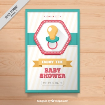 Babypartyeinladung mit schnuller