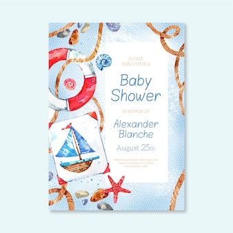 Babypartyeinladungsschablone für jungen