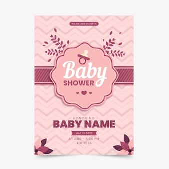 Babypartyeinladungsschablone für mädchen