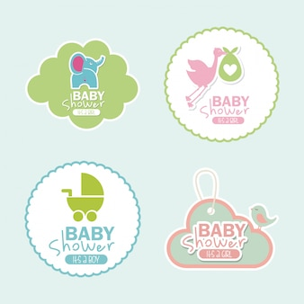 Babypartyentwurf über hintergrundvektorillustration