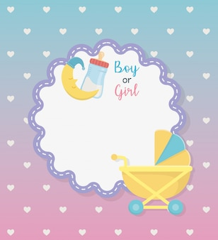 Babypartykarte mit eingestelltem zubehör