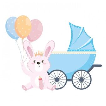 Babypartysymbol und -kaninchen