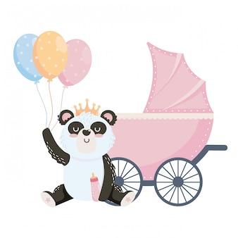 Babypartysymbol und -panda