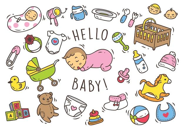Babyspielzeug und zubehör gekritzel