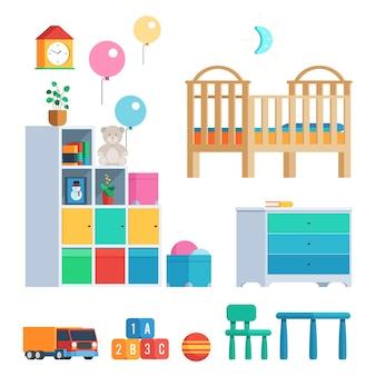 Babyzimmer eingestellt