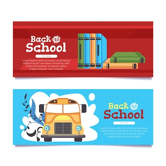 Back to school banner konzept